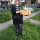 Teri with basket